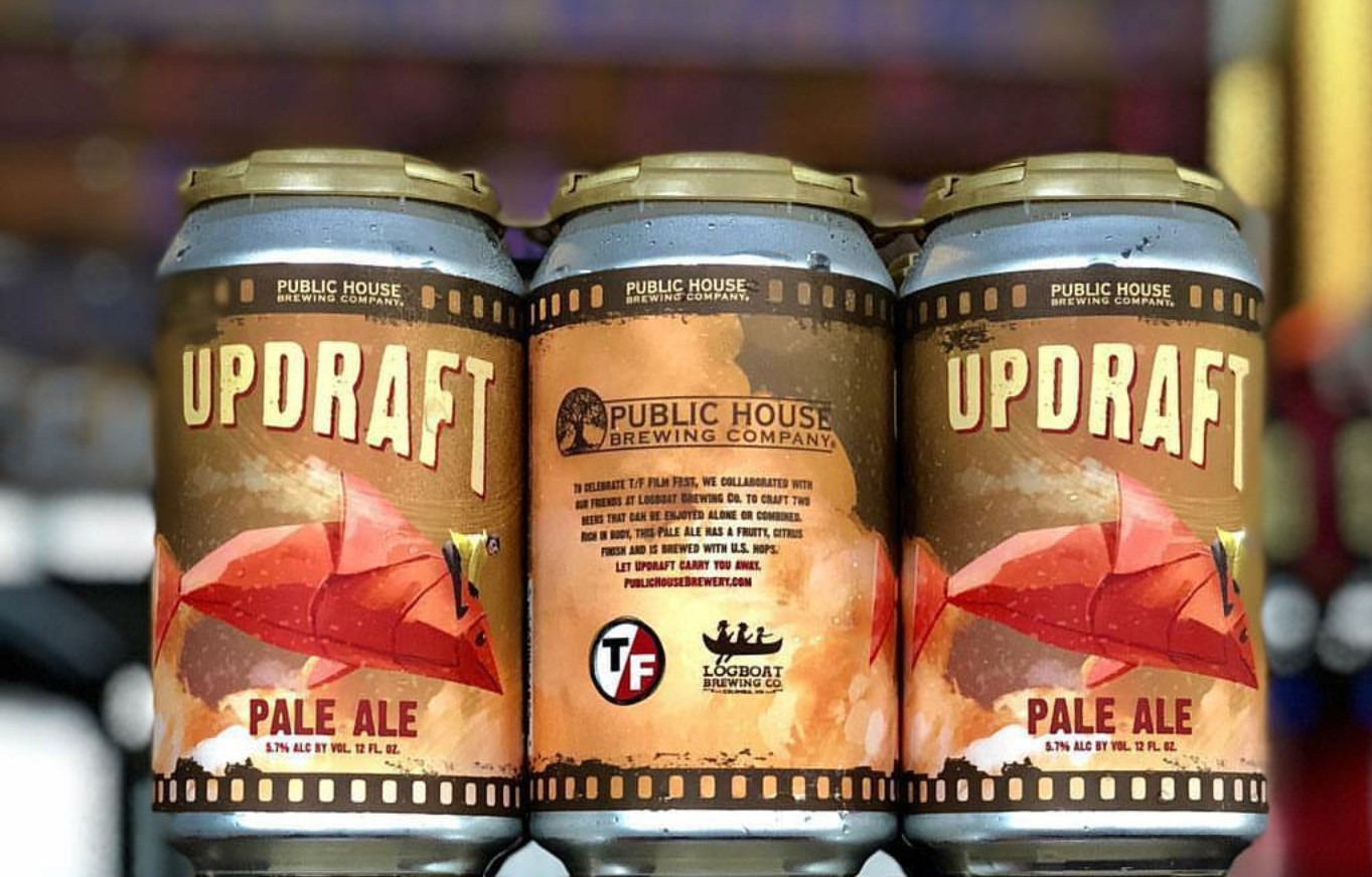 Updraft Pale Ale beer label design-Wildfire Creative