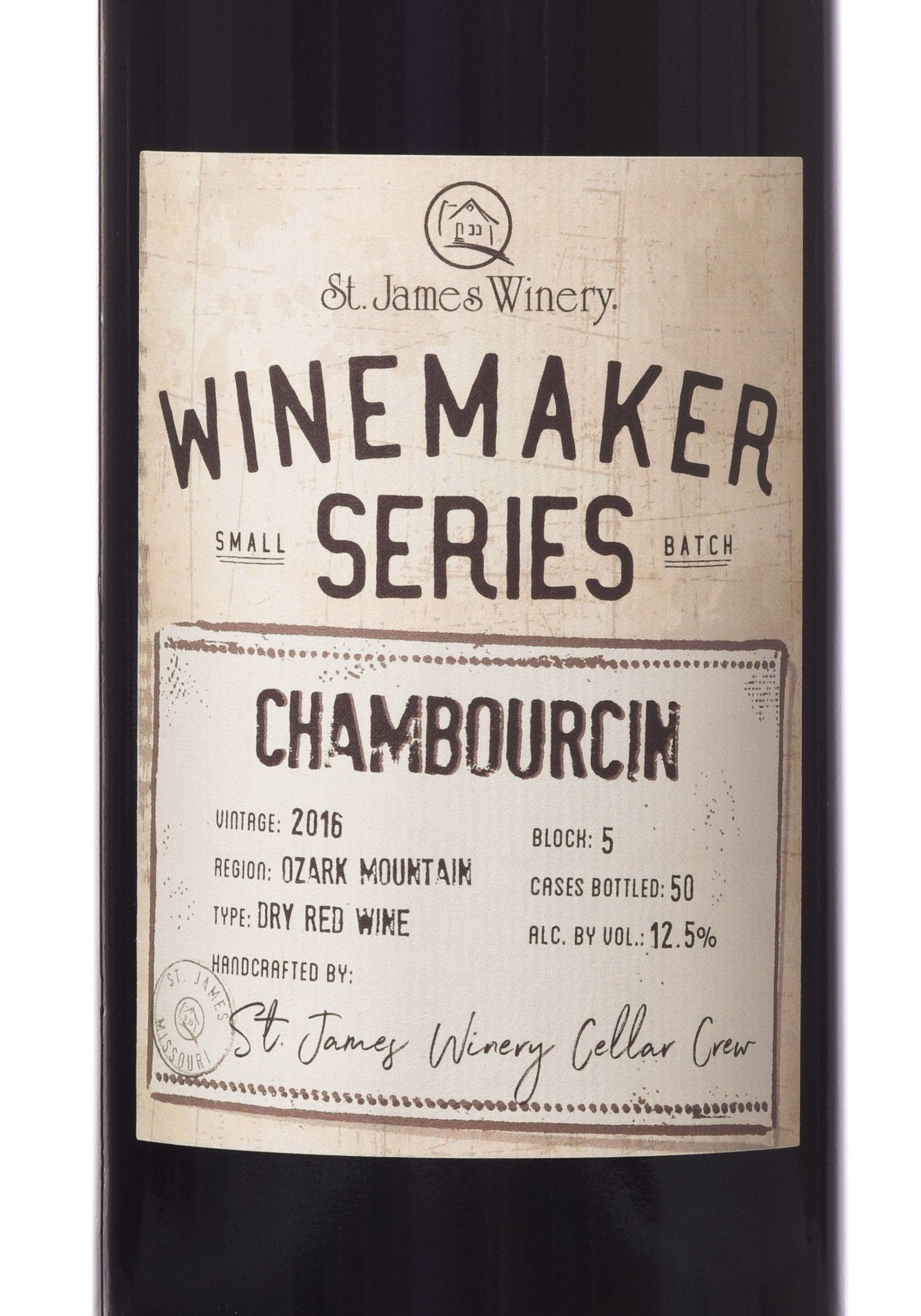 Winemaker Series Chambourcin label