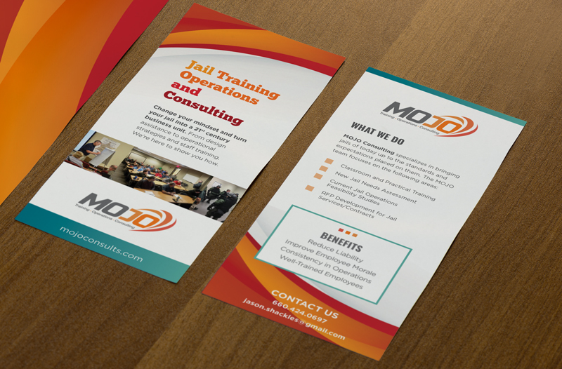 Mojo Consulting Rack Card designed by Wildfire Creative