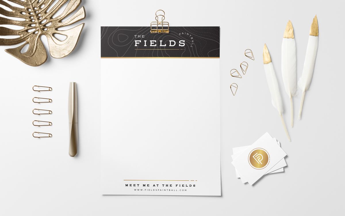 The Fields Paintball Letterhead designed by Wildfire Creative