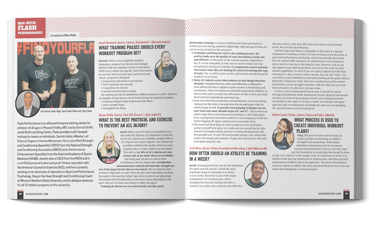 Wildfire Creative KCPrepReport magazine layout